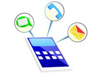 multitasking on mobile phone clipart. Size: 69 Kb