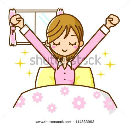 Photo Wake Up Women 114833992 Cartoon Gi-Photo Wake Up Women 114833992 Cartoon Girl Waking Up In The Morning-4