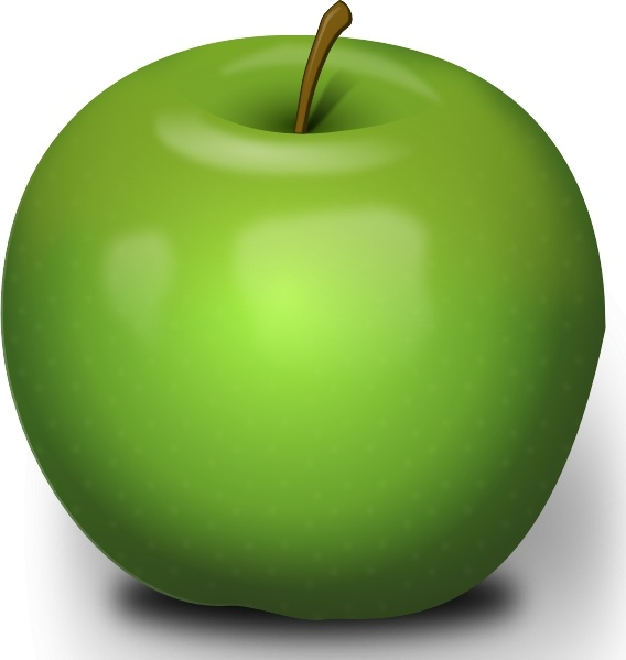 Photorealistic Green Apple clip art