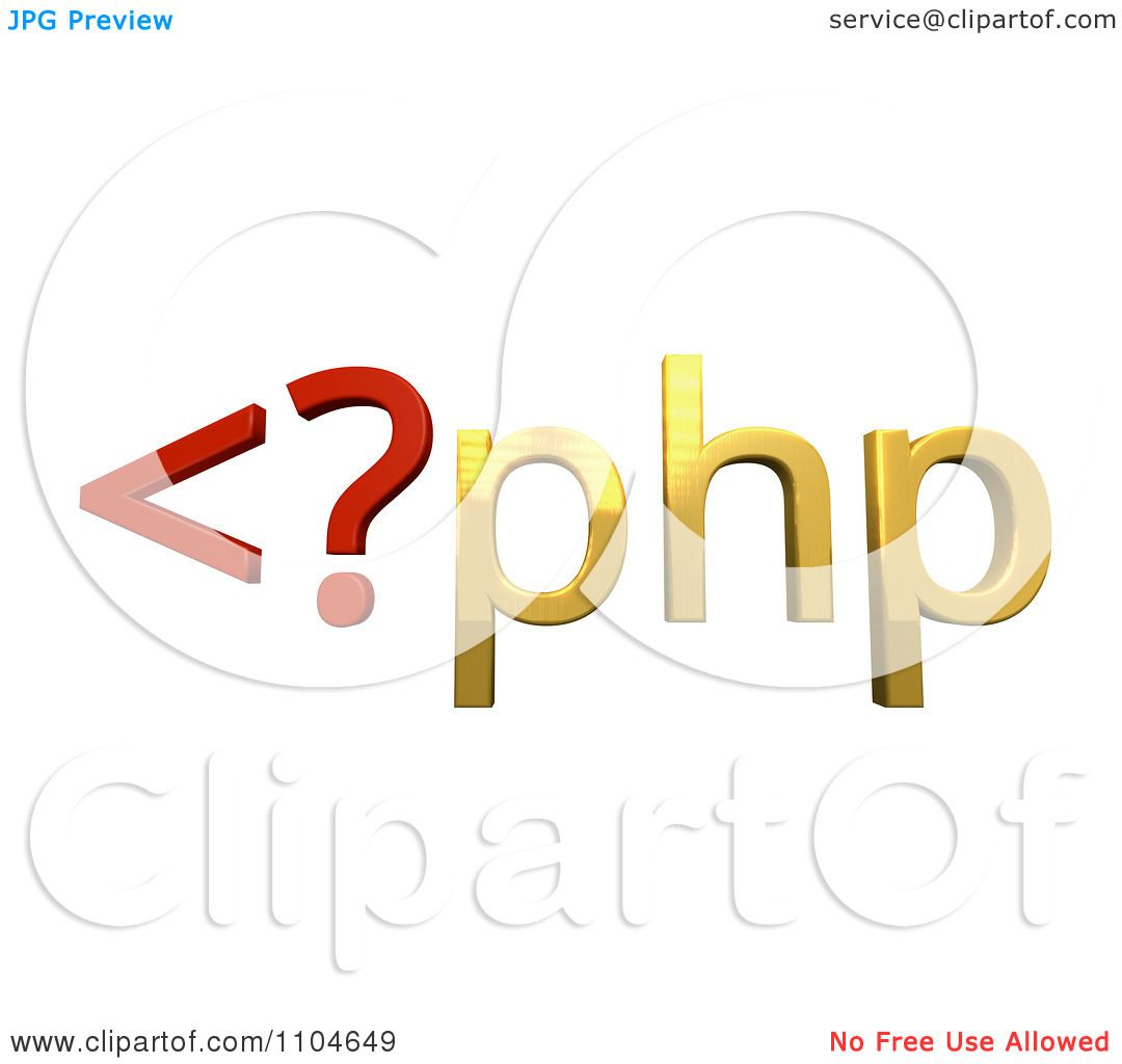 Clipart 3d Red And Gold Php Scripting Language - Royalty Free CGI  Illustration by Leo Blanchette