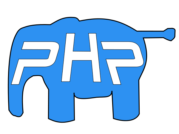 PHP elephant PNG images 600 x 450