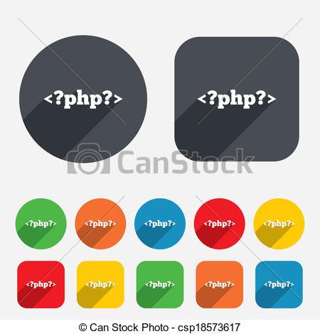 PHP sign icon. Programming language symbol. - csp18573617