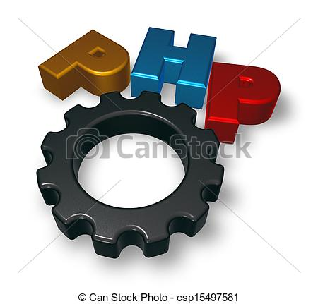 Php Tag And Cogwheel - Csp15497581-php tag and cogwheel - csp15497581-15