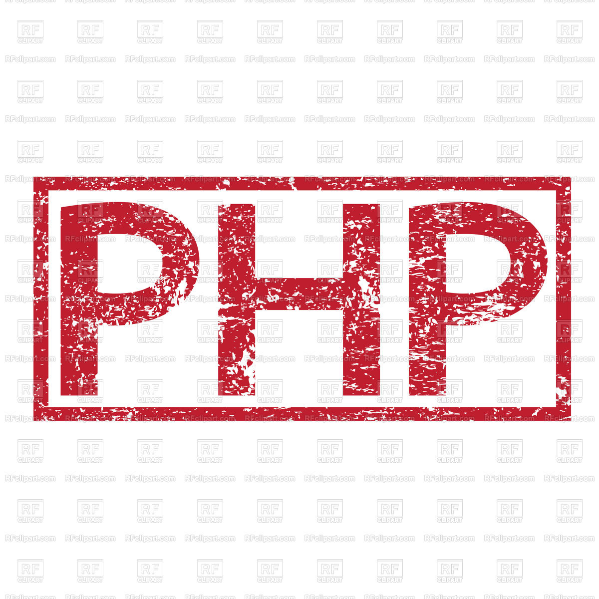 Stamp text PHP Royalty Free Vector Clip Art