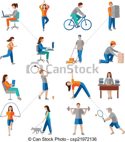Physical Activity Icons - Physical Activ-Physical activity icons - Physical activity healthy.-9
