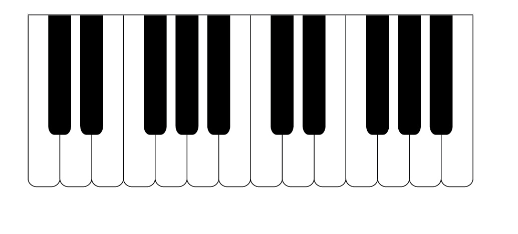 piano keyboard clipart