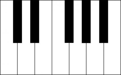 42 Piano Keys Clip Art
