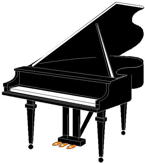 Piano Clipart Black And White | Clipart library - Free Clipart Images