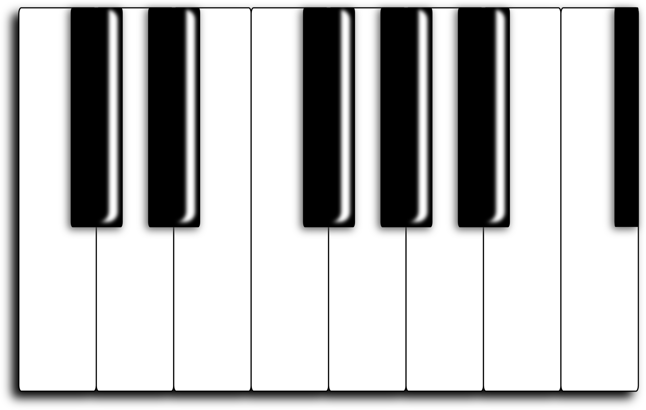 Piano Keyboard Clip Art Clipart Best