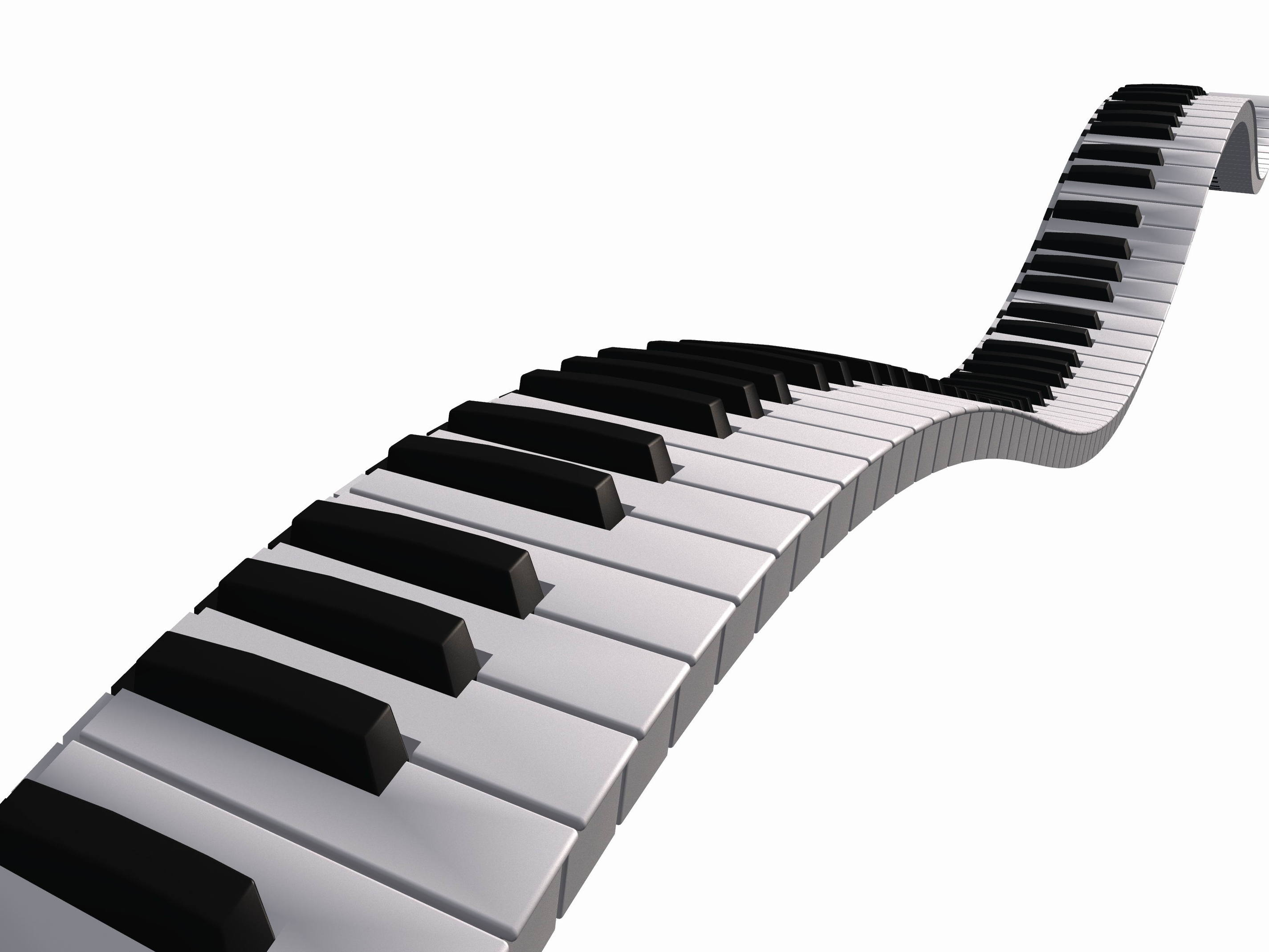 Piano Keys Clipart - Blogsbeta