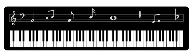 Piano keys clipart
