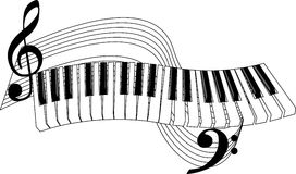 Piano Keys Royalty Free Stock .