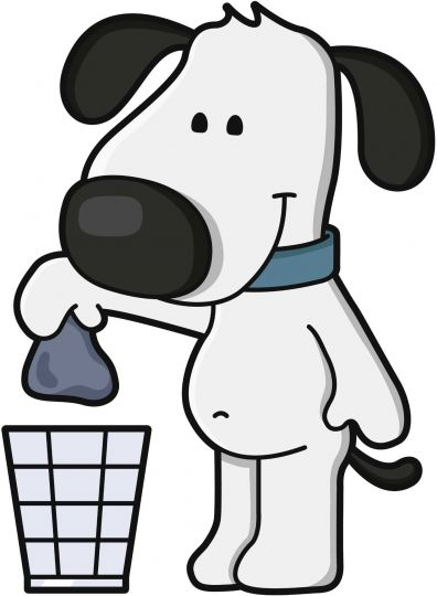 Pick up dog poop signs clipart