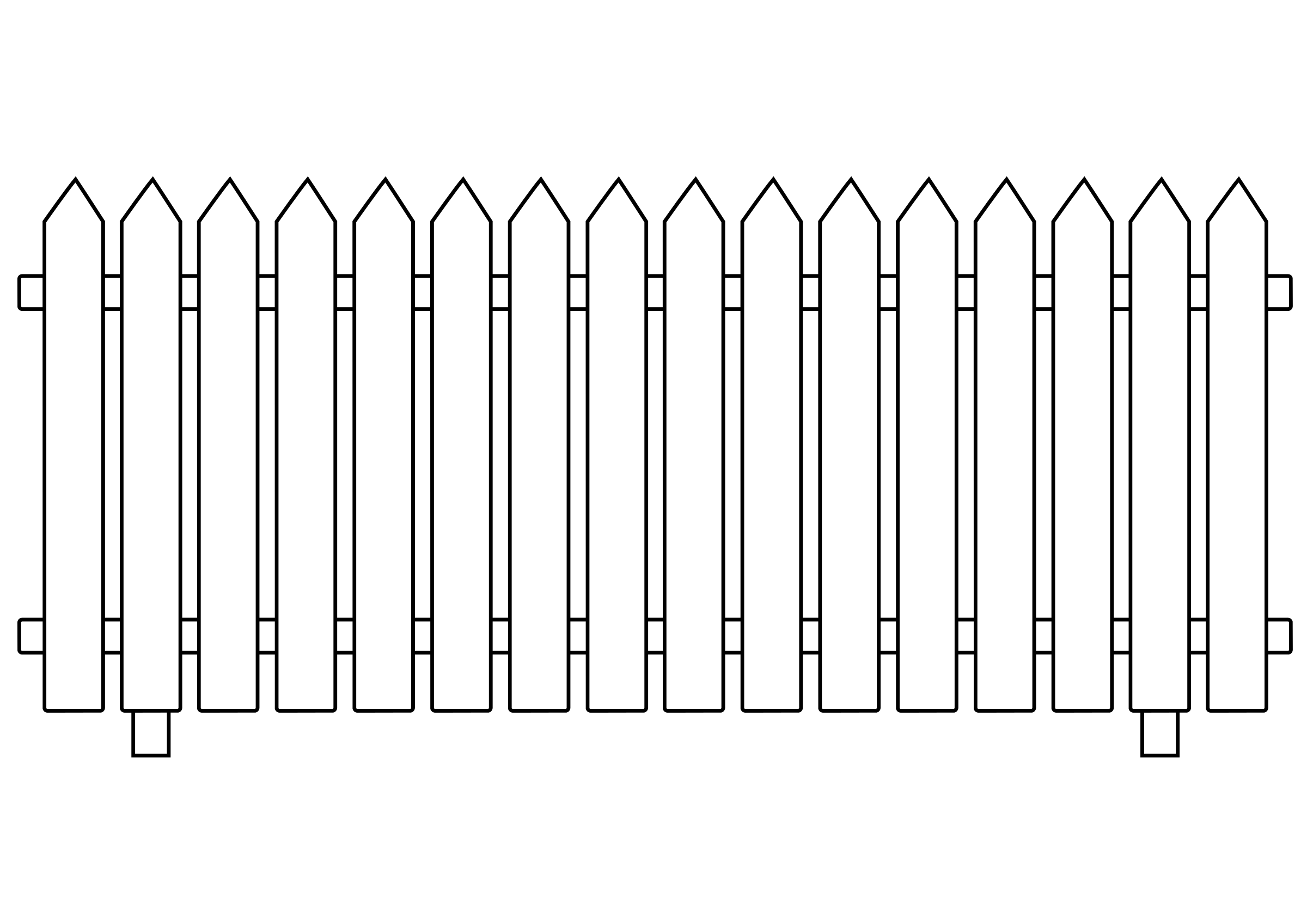 Picket Fence Clip Art - Picket Fence Clipart