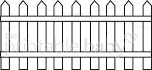 Picket Fence Clipart - Picket Fence Clipart