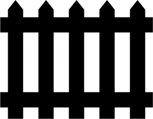 Picket Fence - Picket Fence Clipart
