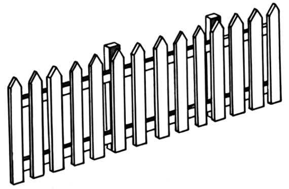 ... Picket Fence Template Cli - Picket Fence Clipart