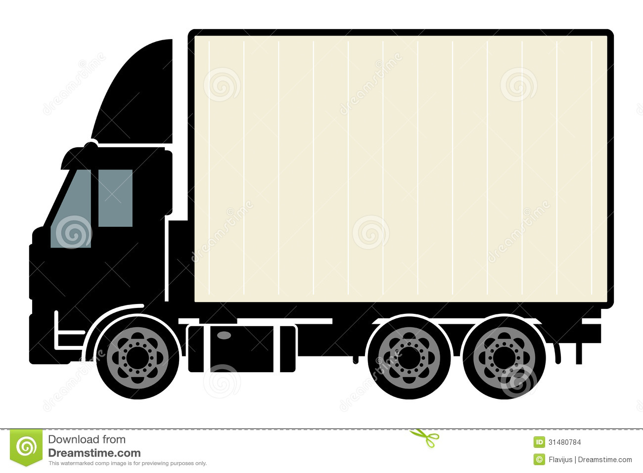 pickup truck clipart outline - Delivery Truck Clipart