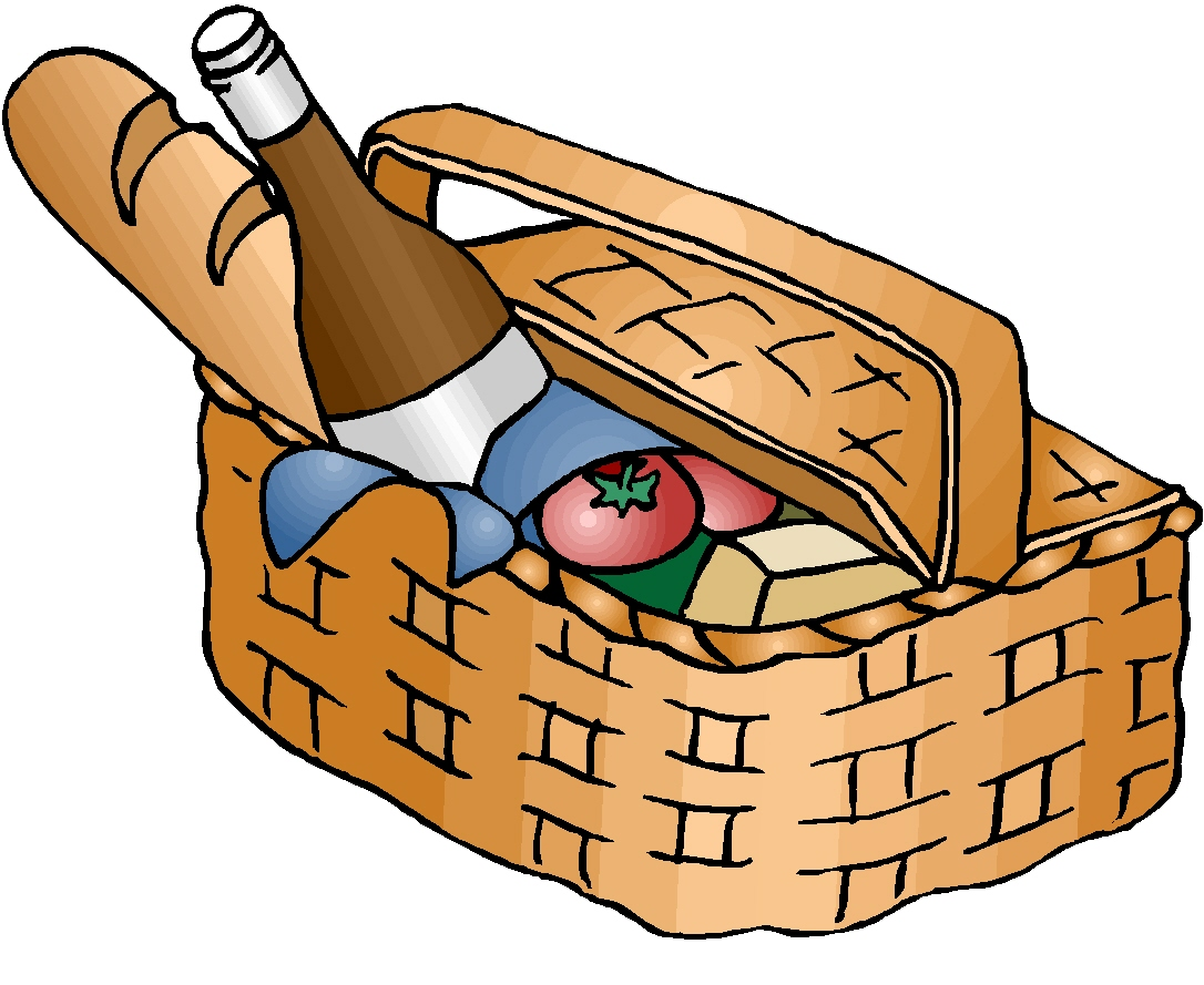 Picnic Basket Clip Art Black And White-picnic basket clip art black and white-4