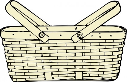 Picnic basket clip art free vector in op-Picnic basket clip art free vector in open office drawing svg-11