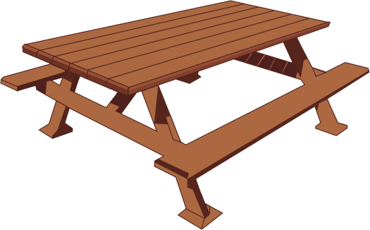 Picnic Table vector art .