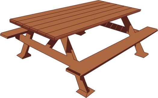 Picnic Table Vector Art .-Picnic Table vector art .-15
