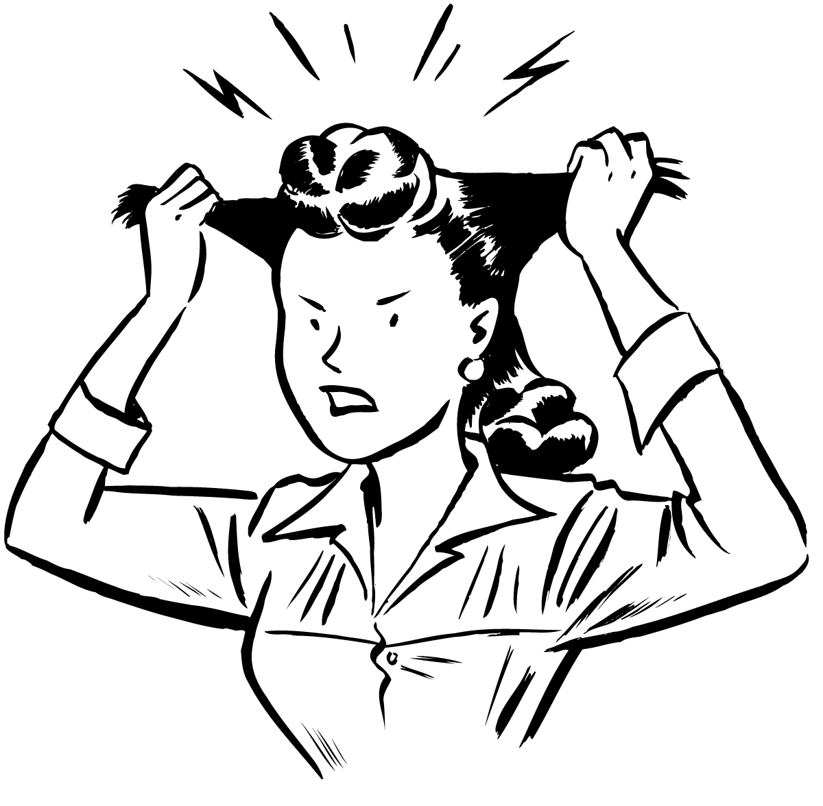 Pics Of Stressed Out People Clipart Best