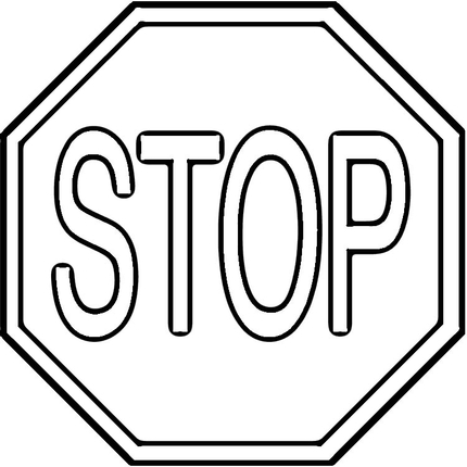 Picture of a stop sign in .