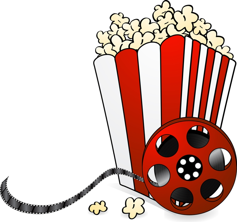 Picture Of Popcorn u0026middot; Movie Night Clipart ...
