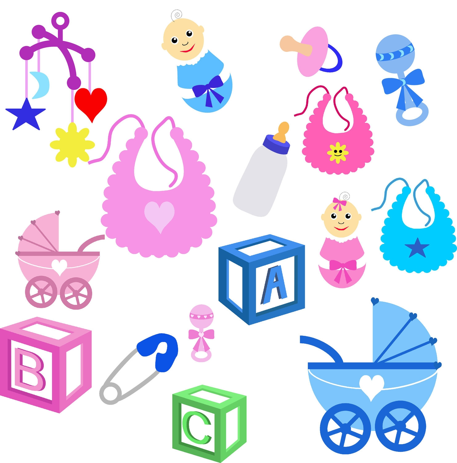Pictures Of Baby Items Clipart