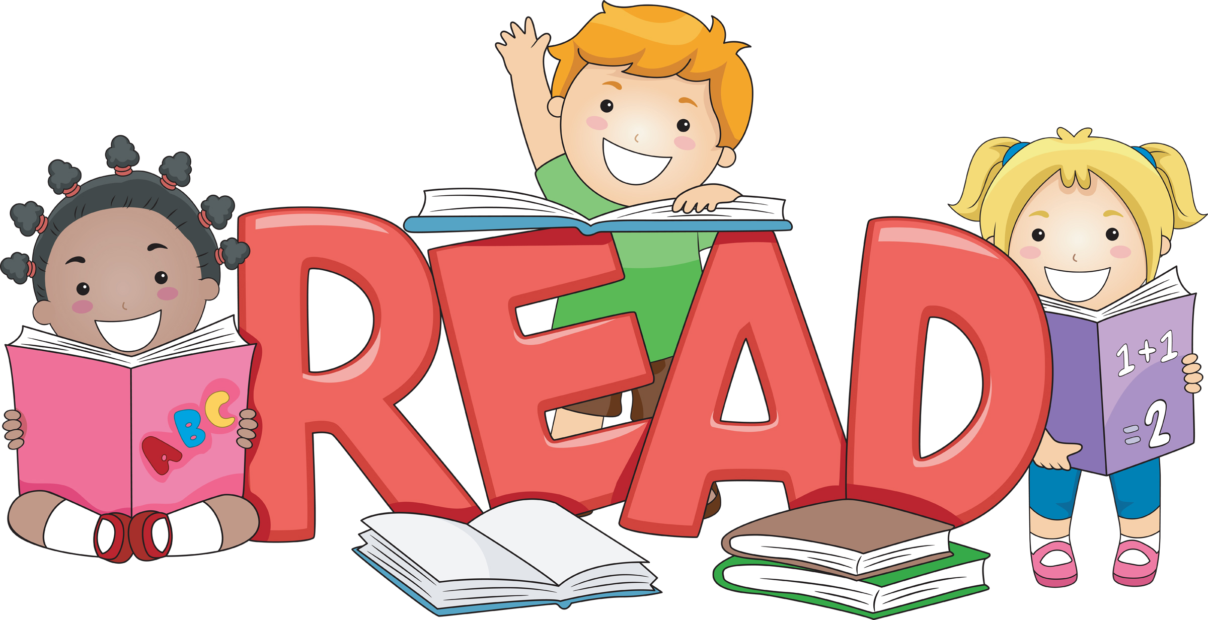 Book Clipart Girl Reading A .