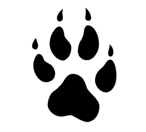 Pictures Of Wolf Paw Prints Clipart Best