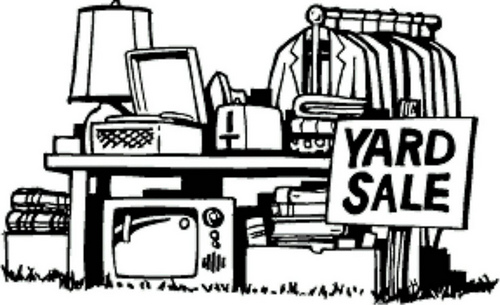 Pictures of yard sales clipart