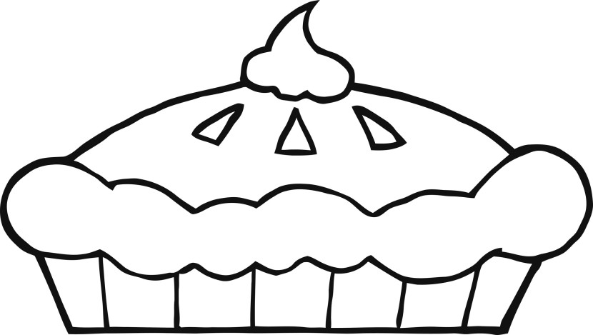 Pie Clipart Black And White 2-Pie clipart black and white 2-12