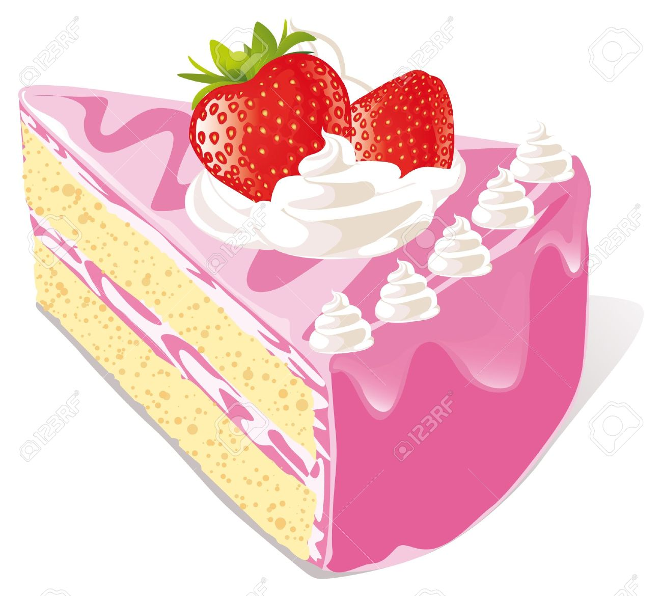 piece of cake: strawberry cake