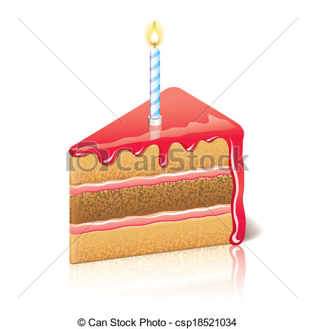 ... Piece of cake with jam vector illustration - Piece of cake.