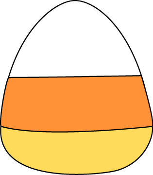 Piece Of Candy Corn Clip Art Image Piece Of Candy Corn With A Black