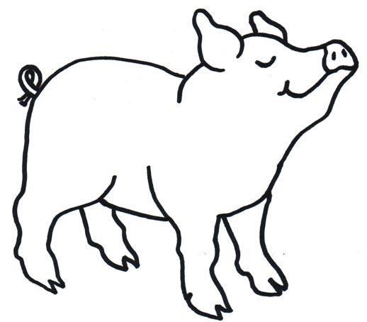 Pig Clip Art - Pig Clipart Black And White