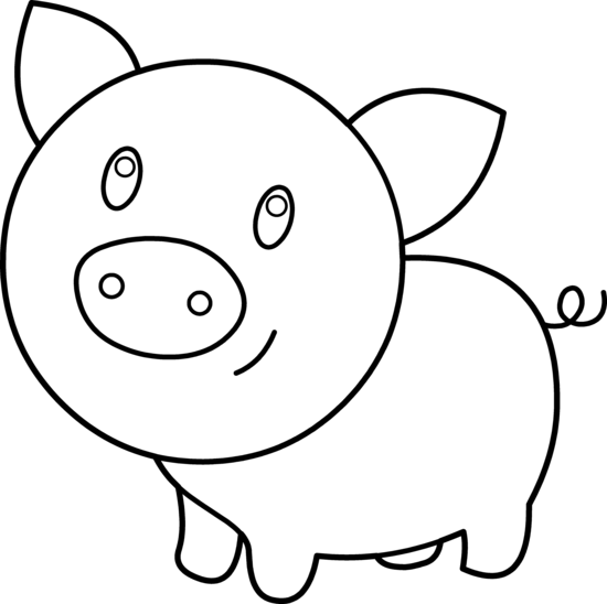 Pig Clip Art - Pig Clipart Black And White