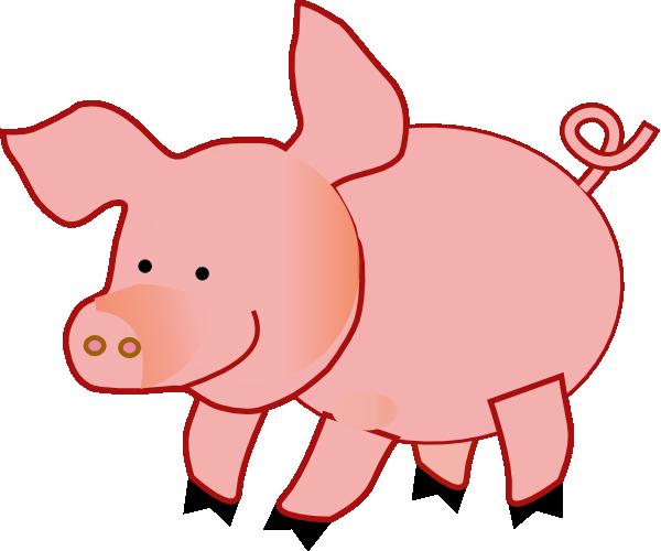 Pig Clip Art - Vector Clip Art Online, R-Pig clip art - vector clip art online, royalty free public domain-8