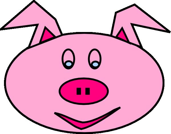 Pig Face Clip Art #19644