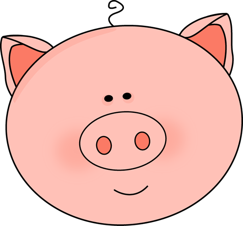 Pig Face Clip Art Image Large Pink Pig F-Pig Face Clip Art Image Large Pink Pig Face With Pointy Ears And A-0