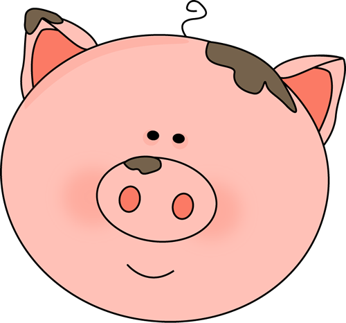 Pig Face With Mud Clip Art Image Cute Pi-Pig Face With Mud Clip Art Image Cute Pink Pig Face With Spots Of-1