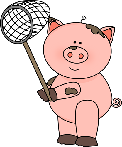Pig Holding A Net-Pig Holding a Net-19