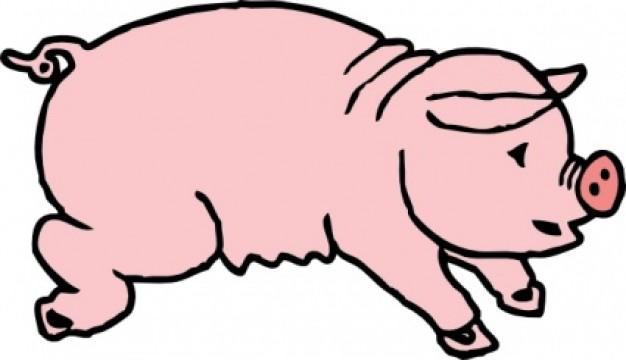 Piggie Pig clip art Vector | Free Download