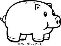 ... Piggy Bank - A Cartoon Illustration -... Piggy Bank - A cartoon illustration of a pink piggy bank.-8