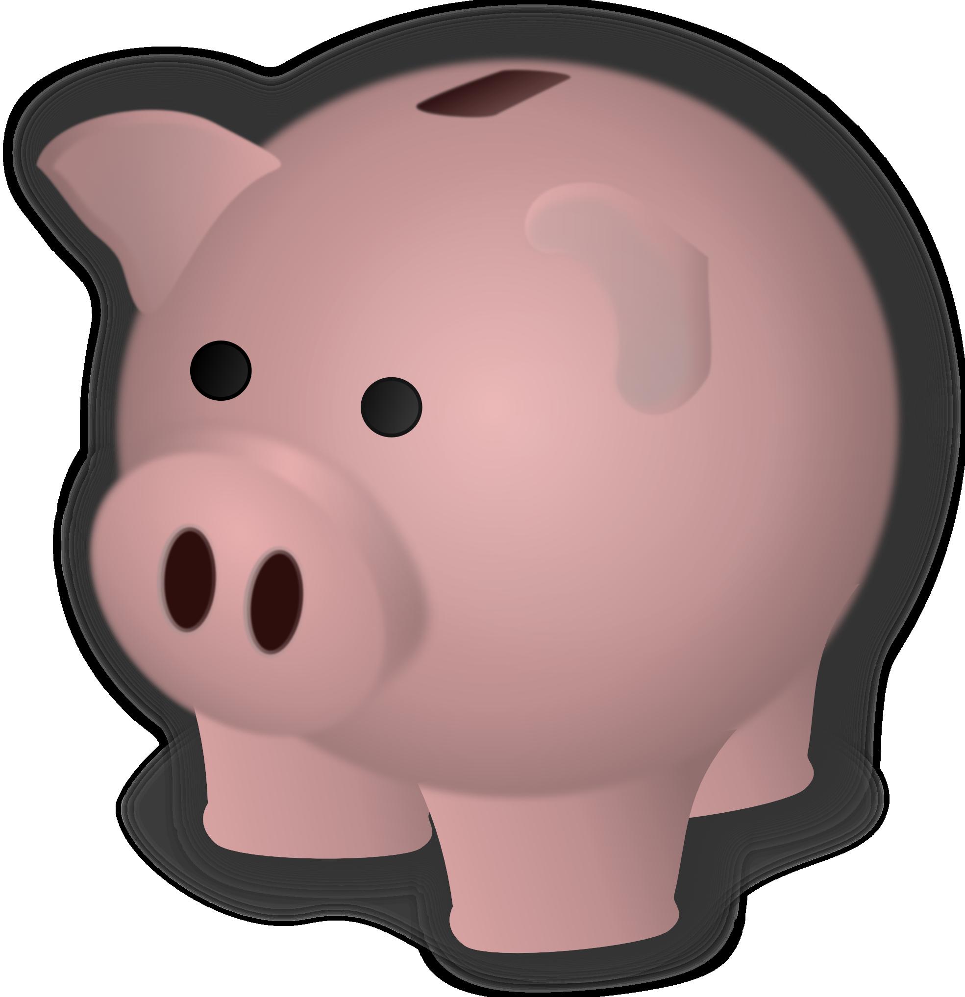 Piggy Bank Clip Art Clipart 4-Piggy bank clip art clipart 4-10