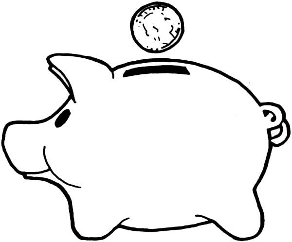 Piggy Bank Clip Art - .-Piggy Bank Clip Art - .-13