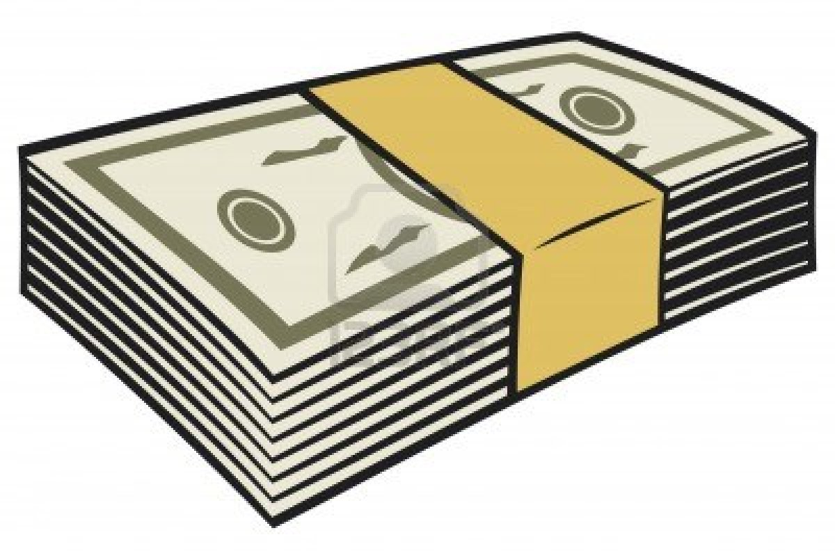 pile of money clipart