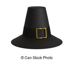 Pilgrim hat - A render of an isolated pilgrim hat